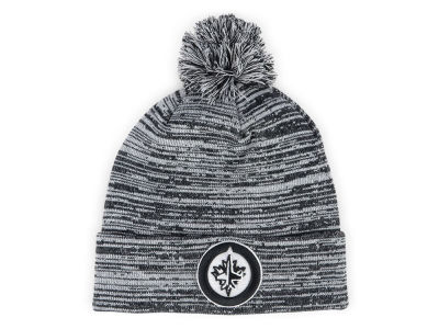 Winnipeg Jets NHL Black White Cuffed Pom