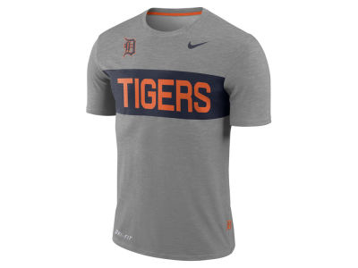 Detroit Tigers Nike MLB Men's Dri-Fit Slub Stripe T-Shirt