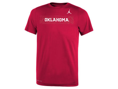 Oklahoma Sooners Jordan NCAA Youth Legend Sideline T-Shirt