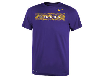 LSU Tigers Nike NCAA Youth Legend Sideline T-Shirt