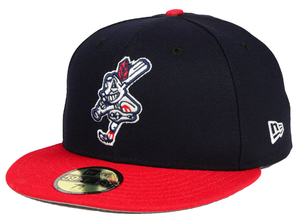 028aa485e39 Cleveland Indians New Era MLB Wahoo Custom 59FIFTY Cap