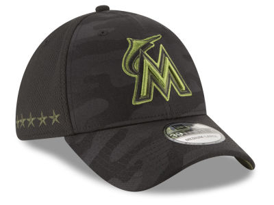 Miami Marlins New Era 2018 MLB Memorial Day 39THIRTY Cap