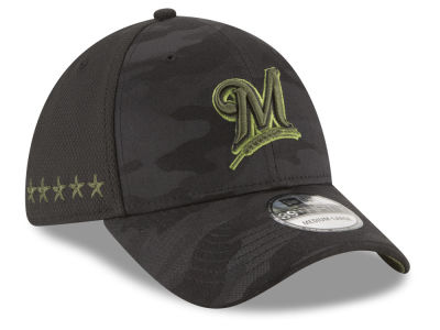 Milwaukee Brewers New Era 2018 MLB Memorial Day 39THIRTY Cap