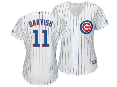 Chicago Cubs Yu Darvish Majestic MLB Women's Cool Base Player Replica Jersey