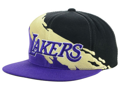 Los Angeles Lakers Mitchell & Ness NBA Gold Paint Snapback Cap