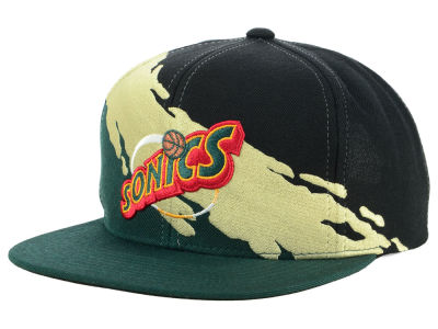 Seattle SuperSonics Mitchell & Ness NBA Gold Paint Snapback Cap