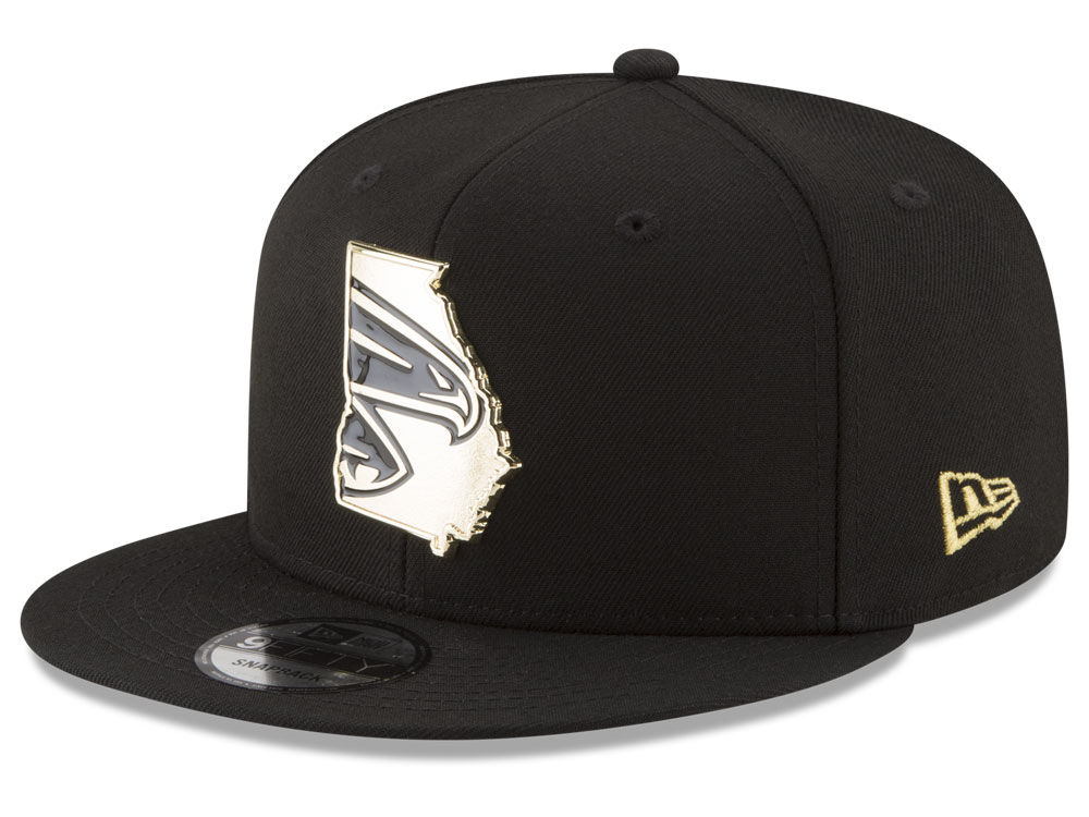 Atlanta Falcons New Era NFL Gold Stated 9FIFTY Snapback Cap  a339be48543b