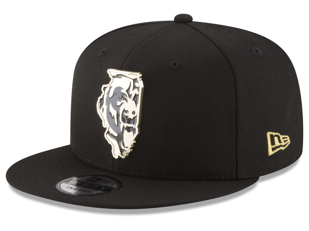 Chicago Bears New Era NFL Gold Stated 9FIFTY Snapback Cap  f41c94dc3d1e