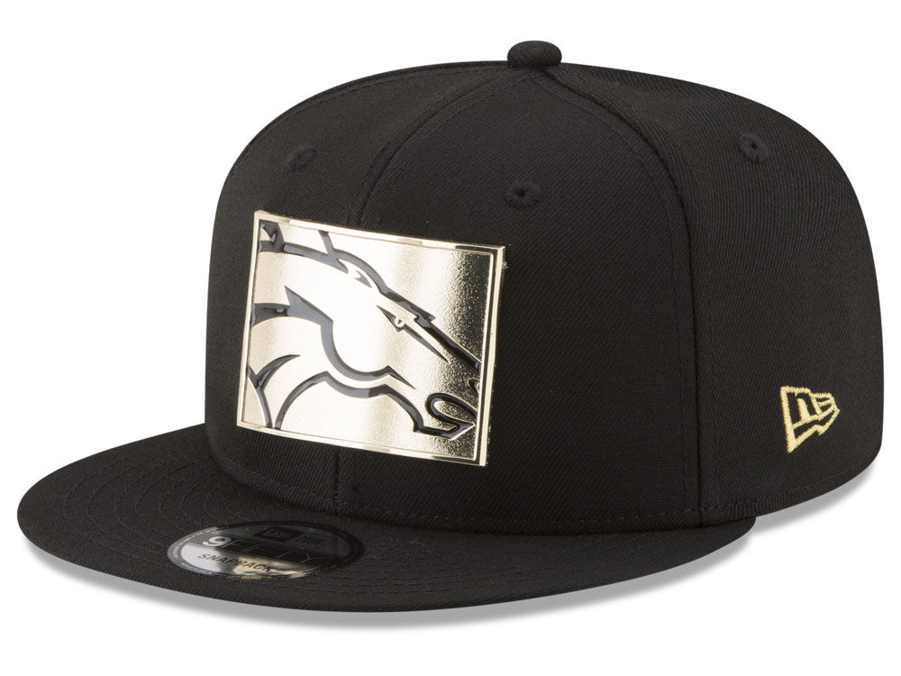 Denver Broncos New Era NFL Gold Stated 9FIFTY Snapback Cap  afef7cf112de