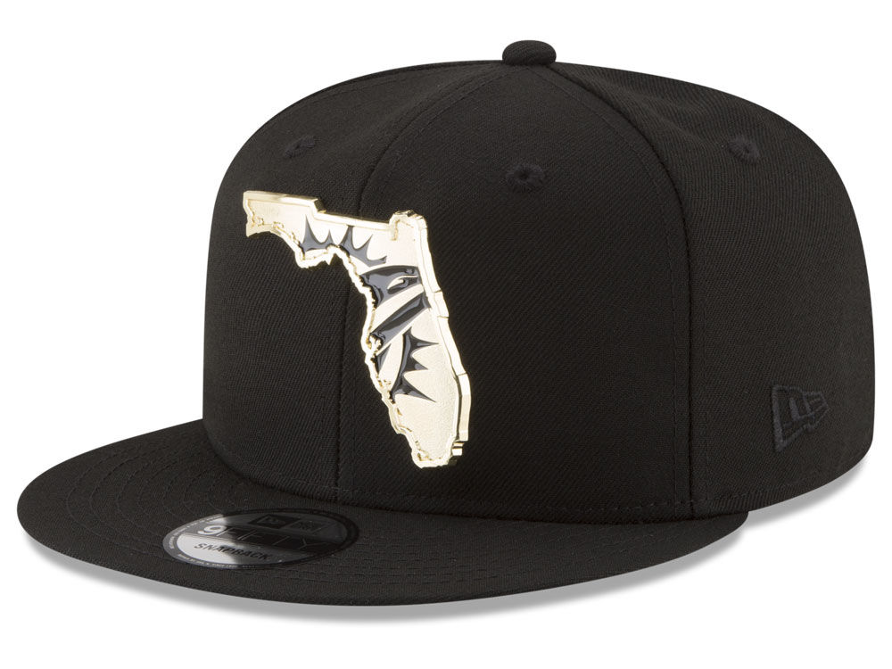 78bb0efe688 Miami Dolphins New Era NFL Gold Stated 9FIFTY Snapback Cap