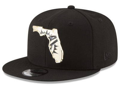 Miami Dolphins New Era NFL Gold Stated 9FIFTY Snapback Cap