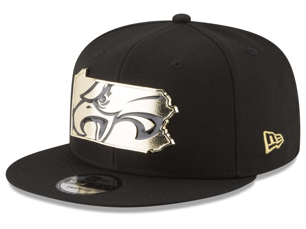 4cfcb9d20d1 Philadelphia Eagles New Era NFL Gold Stated 9FIFTY Snapback Cap ...