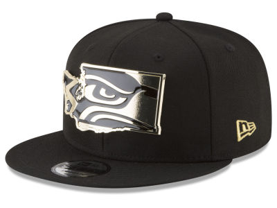Seattle Seahawks New Era NFL Gold Stated 9FIFTY Snapback Cap