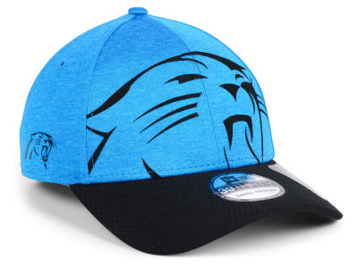 8875fbdbeeb Carolina Panthers New Era NFL Over Sized Laser Cut Logo 39THIRTY Cap