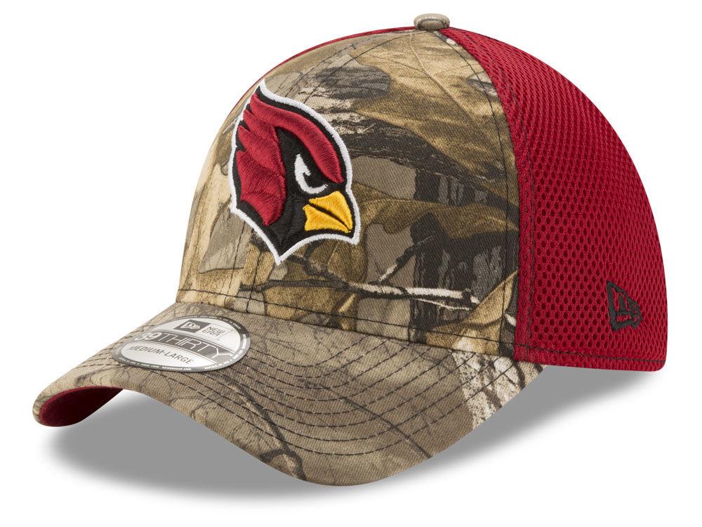 75b80900e Arizona Cardinals New Era NFL Realtree Camo Team Color Neo 39THIRTY Cap