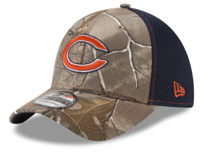 Chicago Bears New Era NFL Realtree Camo Team Color Neo 39THIRTY Cap