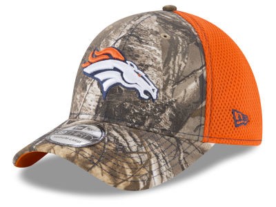 Denver Broncos New Era NFL Realtree Camo Team Color Neo 39THIRTY Cap