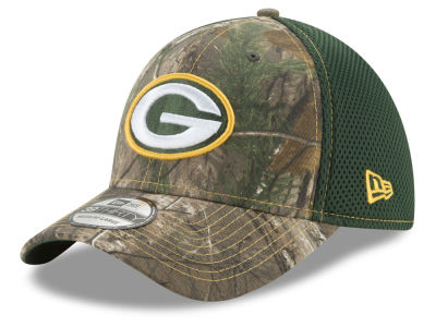 Green Bay Packers New Era NFL Realtree Camo Team Color Neo 39THIRTY Cap