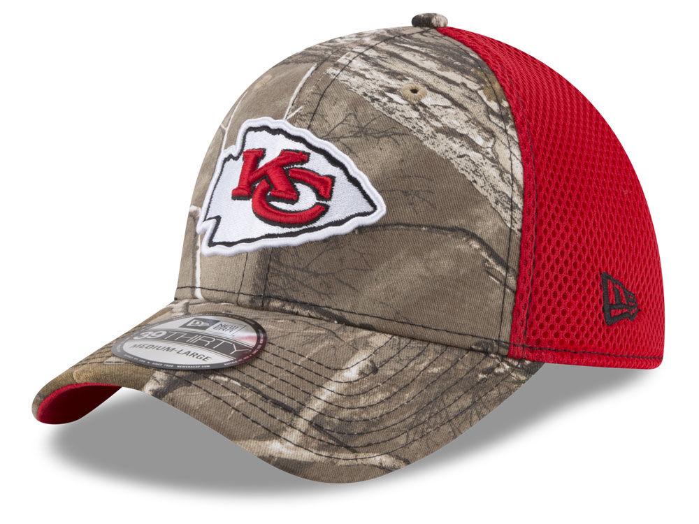 e66d59c0a Kansas City Chiefs New Era NFL Realtree Camo Team Color Neo 39THIRTY Cap