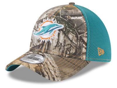Miami Dolphins New Era NFL Realtree Camo Team Color Neo 39THIRTY Cap