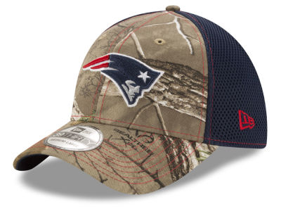 dc167222872 New England Patriots New Era NFL Realtree Camo Team Color Neo 39THIRTY Cap