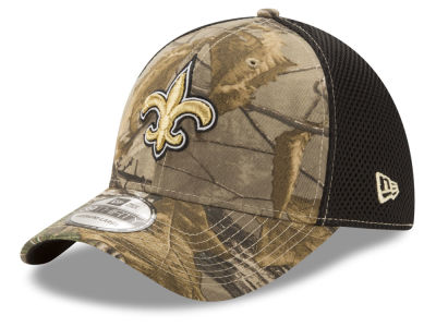 New Orleans Saints New Era NFL Realtree Camo Team Color Neo 39THIRTY Cap