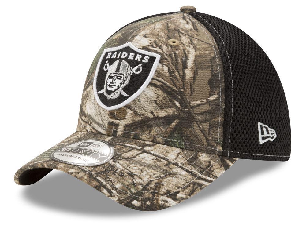 Oakland Raiders New Era NFL Realtree Camo Team Color Neo 39THIRTY Cap  3e592ad6b