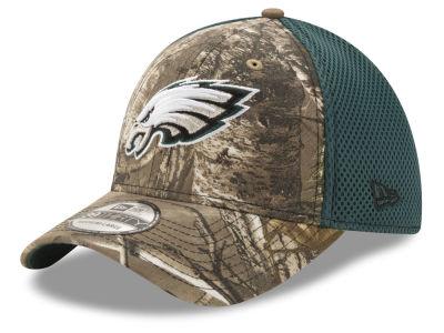 Philadelphia Eagles New Era NFL Realtree Camo Team Color Neo 39THIRTY Cap 90bee0fa9