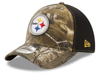 new arrivals e4608 a7e5b Pittsburgh Steelers New Era NFL Realtree Camo Team Color Neo 39THIRTY Cap