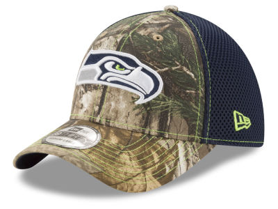 Seattle Seahawks New Era NFL Realtree Camo Team Color Neo 39THIRTY Cap