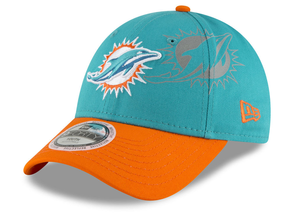purchase cheap 9af4b 4f026 ... italy miami dolphins new era nfl kids side flect 9forty cap c0115 09b46