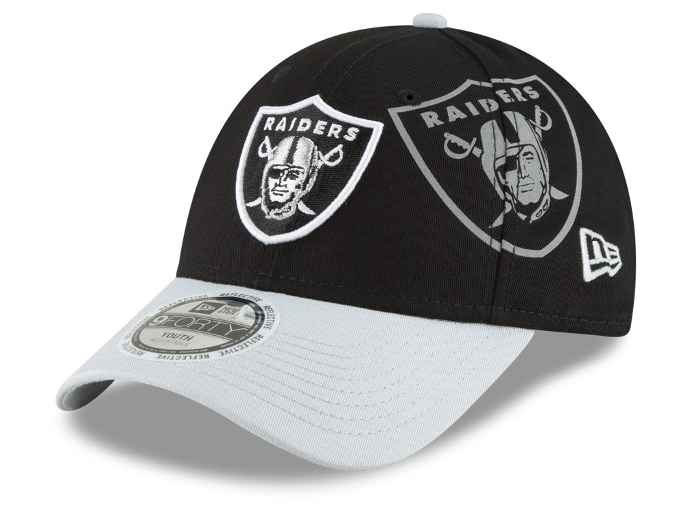 10ad2fd7a8c Oakland Raiders New Era NFL Kids Side Flect 9FORTY Cap