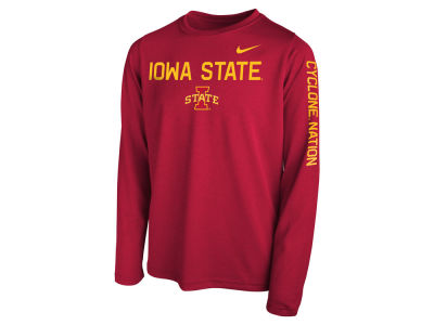 Iowa State Cyclones Nike NCAA Youth Legend Long Sleeve T-Shirt