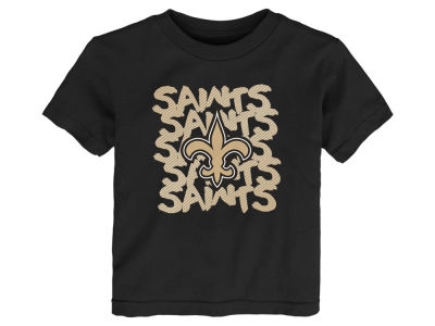 New Orleans Saints Outerstuff NFL Toddler Graph Repeat T-Shirt