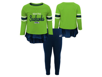 Seattle Seahawks Outerstuff NFL Infant Girls Mini Formation Set