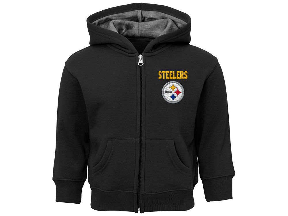 Pittsburgh Steelers Outerstuff NFL Toddler Zone Full Zip Hoodie ... 3b38dfb85