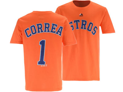Houston Astros Carlos Correa Outerstuff MLB Youth Official Player T-Shirt