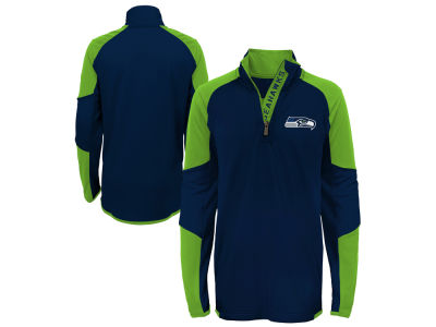 Seattle Seahawks Outerstuff NFL Youth Beta Quarter Zip Pullover