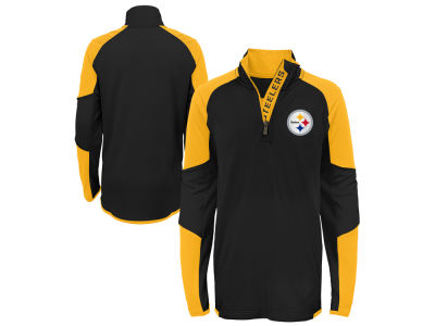 Pittsburgh Steelers Outerstuff NFL Youth Beta Quarter Zip Pullover