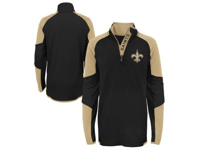 New Orleans Saints Outerstuff NFL Youth Beta Quarter Zip Pullover