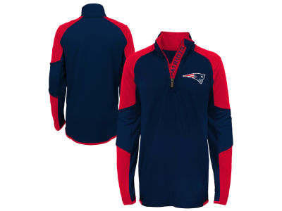 New England Patriots Outerstuff NFL Youth Beta Quarter Zip Pullover