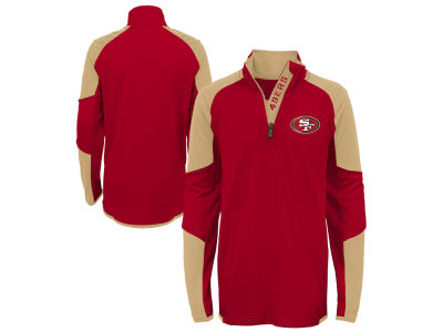 San Francisco 49ers Outerstuff NFL Youth Beta Quarter Zip Pullover