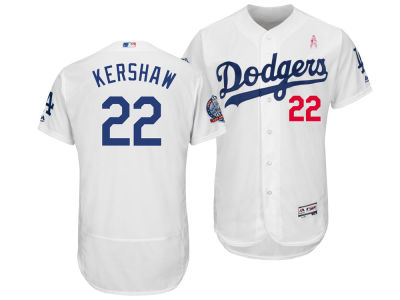 Los Angeles Dodgers Clayton Kershaw Majestic 2018 MLB Men's Mothers Day Flexbase Jersey