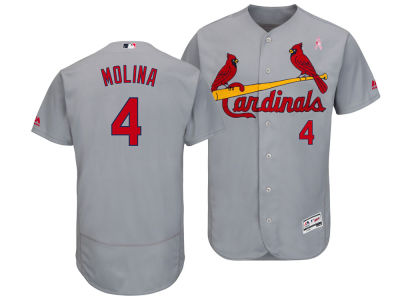 St. Louis Cardinals Yadier Molina Majestic 2018 MLB Men's Mothers Day Flexbase Jersey