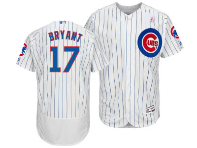 Chicago Cubs Kris Bryant Majestic 2018 MLB Men's Mothers Day Flexbase Jersey