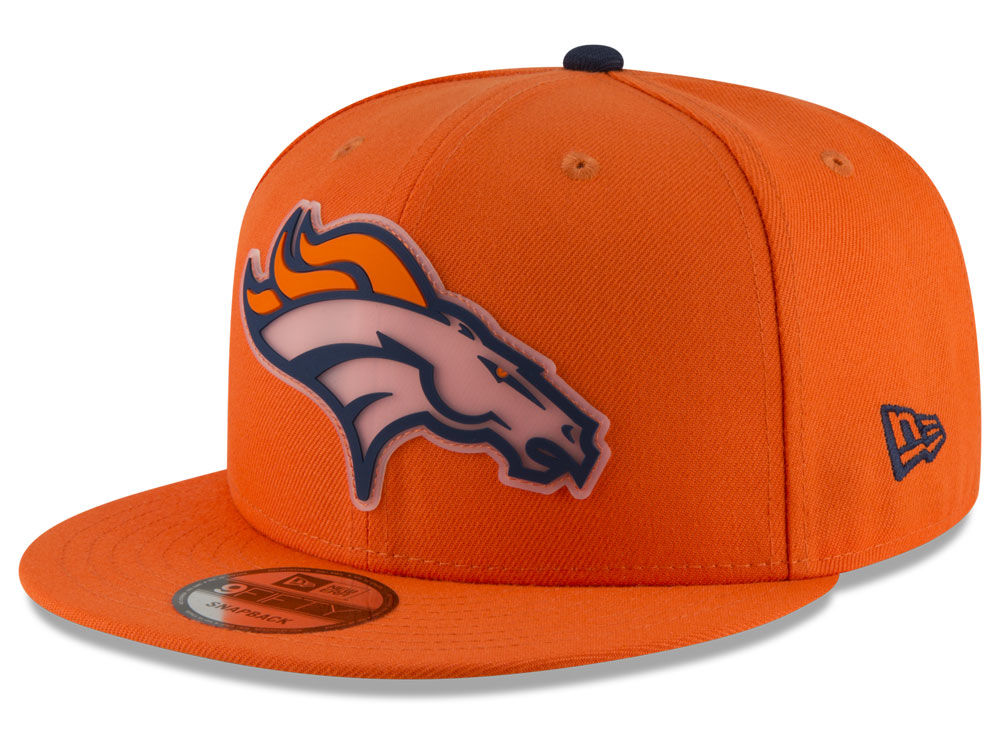 ece5b81c000 Denver Broncos New Era NFL Team Clear 9FIFTY Snapback Cap