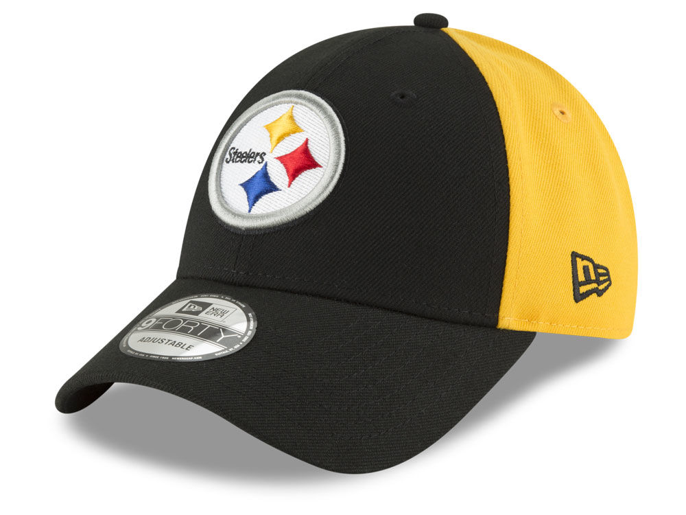 802f776b5 Pittsburgh Steelers New Era NFL Team Blocked 9FORTY Cap