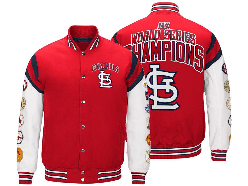 St. Louis Cardinals G-III Sports MLB Men s Home Team Commemorative Varsity  Jacket  54f4b17e1