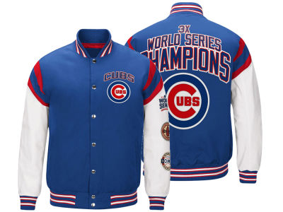 Chicago Cubs G-III Sports MLB Men's Home Team Commemorative Varsity Jacket