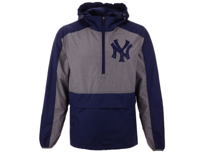 New York Yankees G-III Sports MLB Men's Leadoff Hooded Half Zip Pullover Hoodie